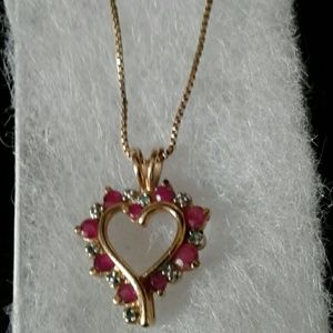 Jewelry - Ruby Heart Necklace